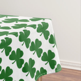 Green Shamrocks St. Patrick's Day Clovers Tablecloth