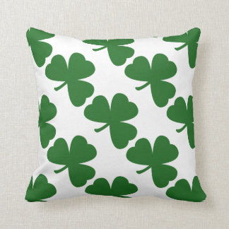 Green Shamrocks St. Patrick's Day Throw Pillow