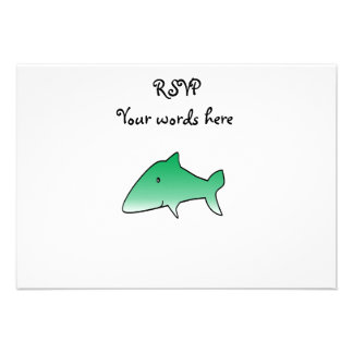 Green shark personalized announcement