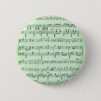Green Sheet Music 2 Inch Round Button