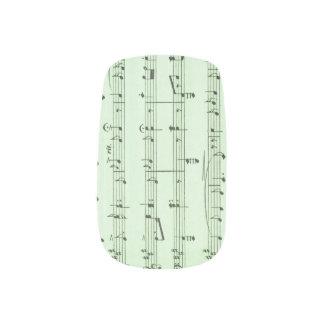Green Sheet Music Minx Nail Art