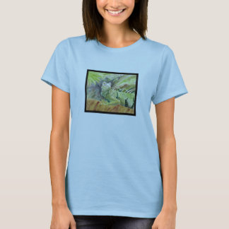 Green Sheguana Iguana Ladie's Shirt