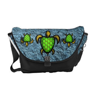 Green Shell Turtle Messenger Bag