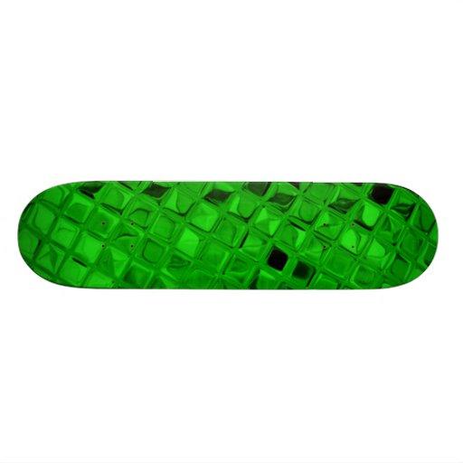 Green Shiny Diamonds Sissy Girly Girl Skateboard