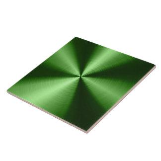 Green Shiny Metallic Design Stainless Steel Look Ceramic Tile