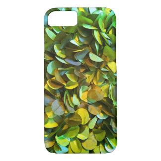 Green Shiny Petals iPhone 7, Barely There iPhone 7 Case