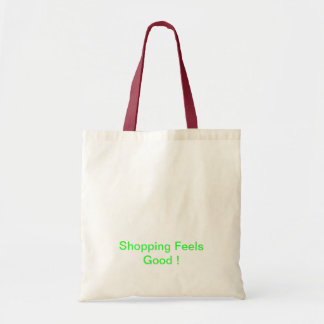 green shopping budget tote bag