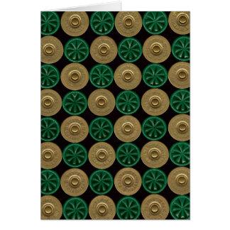 green shotgun shells card
