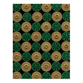 green shotgun shells postcard