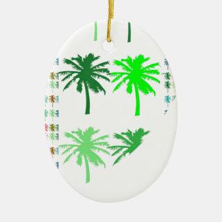 GREEN SHOW : Trees LOTS of TREES  lowprice gifts Ceramic Oval Ornament