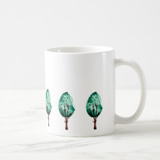 Green Shrubs Coffee Mug