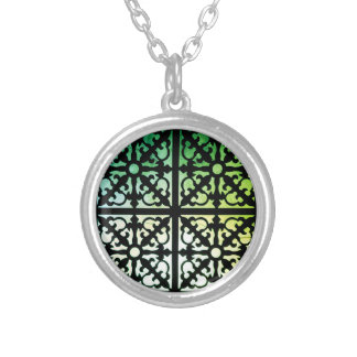 Green Silver Plated Necklace