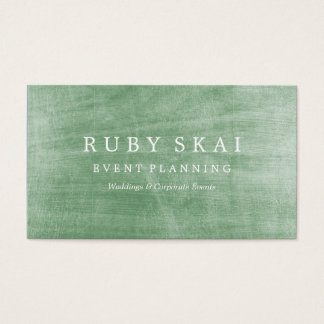 Green Silver Textured Architectural Business Card