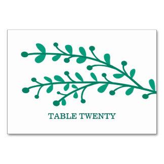 Green Simple Foliage Table Card