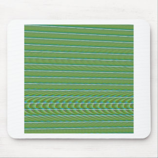 Green Simple Fractal Lines with Ripples Mouse Pad