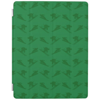 Green ski pattern iPad cover