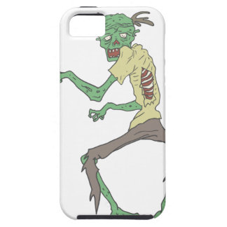 Green Skin Creepy Zombie With Rotting Flesh iPhone 5 Case