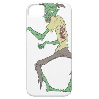 Green Skin Creepy Zombie With Rotting Flesh iPhone 5 Covers