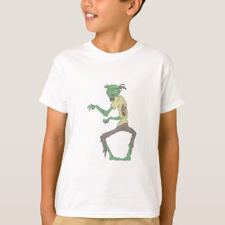 Green Skin Creepy Zombie With Rotting Flesh T-Shirt