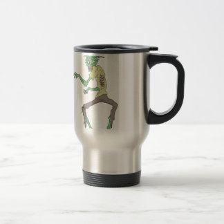Green Skin Creepy Zombie With Rotting Flesh Travel Mug