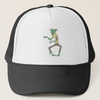 Green Skin Creepy Zombie With Rotting Flesh Trucker Hat