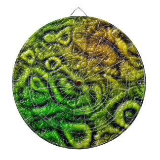 Green skin texture dartboard with darts