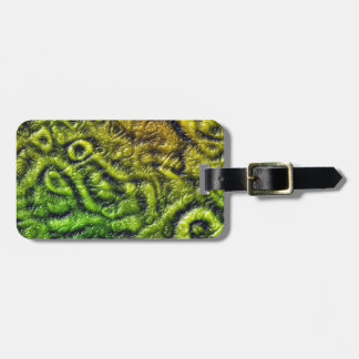 Green skin texture luggage tag