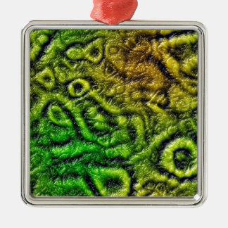Green skin texture metal ornament