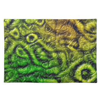 Green skin texture place mats