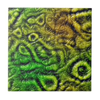 Green skin texture tile