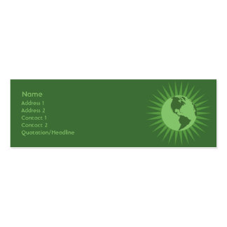 Green - Skinny Mini Business Card