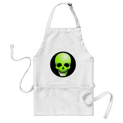 green skull apron