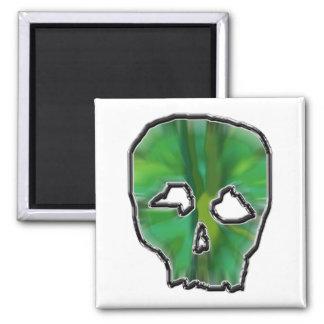 Green Skull. Magnet