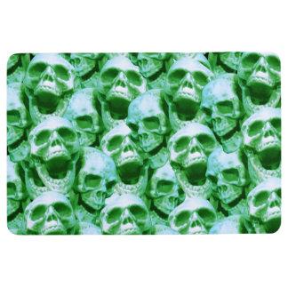 Green Skulls Floor Mat
