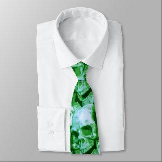 Green Skulls Tie