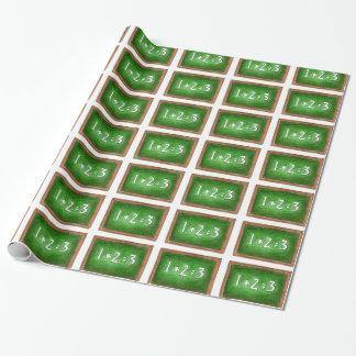 Green Slate Chalkboard Math Teacher Gift Wrap