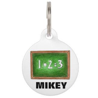 Green Slate School Chalkboard Math Teacher Class Pet Name Tag