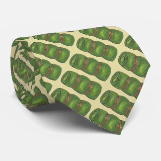 Green Sleeping Bag Roll Camping Camp Hiking Tie