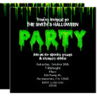 Green Slime Fun Halloween Party Invitations