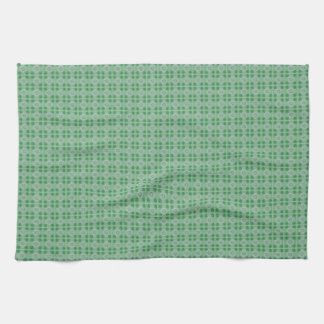 Green small clover pattern kitchen towel