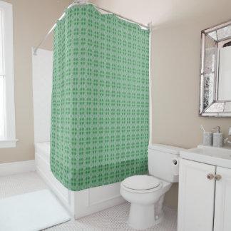 Green small clover pattern shower curtain
