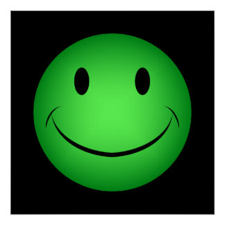 Green Smiley Poster