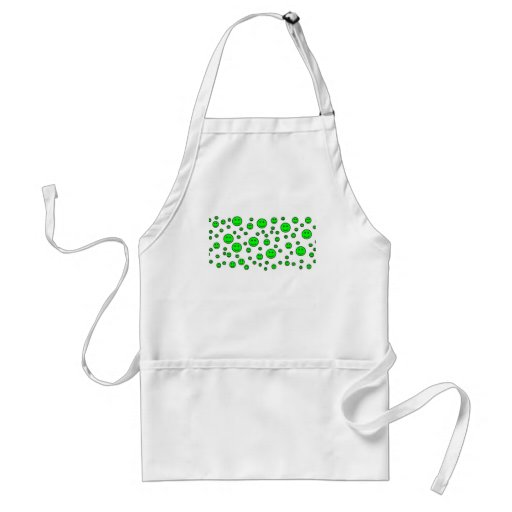 Green Smileys Aprons