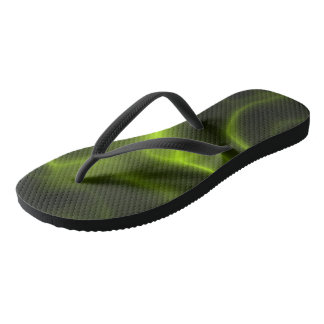 Green smoke effect flip flops