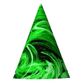 Green Smoke Fractal Party Hat
