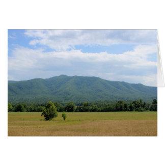 Green Smoky Mountains Note Card