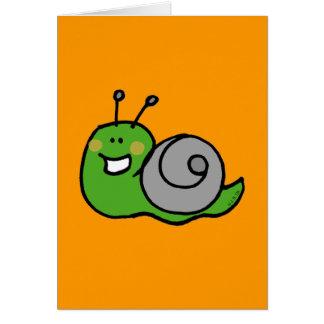 Green snail card