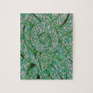 "Green Snake 8"" x 10"" designer Puzzles"