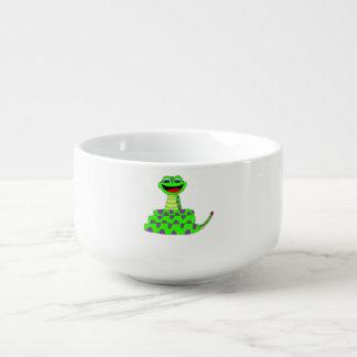 Green snake soup mug
