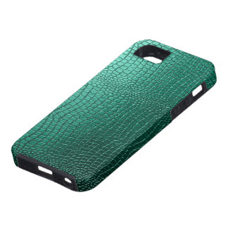 Green Snakeskin Leather Pattern Look iPhone 5 Cover
